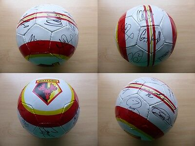 Watford 2011-12 Multi Signed Football Signed by 1st Team Squad inc Deeney (9659)