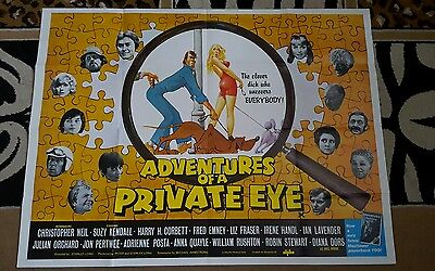 Adventures Of A Private Eye 1977 Cinema Quad Poster