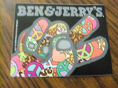 Collectible Ben & Jerry's Ice Cream Peace Sign Sticker/Decal