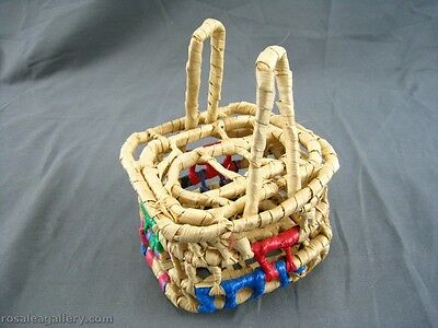 Small Handwoven Basket W/Lid