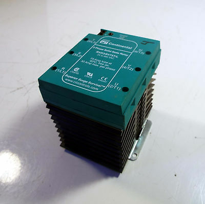 1 Used Continental Rvd3/6V75T/l 3 Phase Solid State Relay