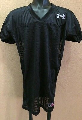 NEW Under Armour Heatgear Loose Coupe Youth's L Football Black Jersey Size YLG