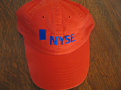 New York Stock Exchange (NYSE) Rust color Adjustable Ball Cap -- NEW --Collector