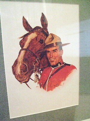 Canadian Mountie  Rcmp Nwmp Officer And Horse  Arnold Frigerg Dry Mount Print