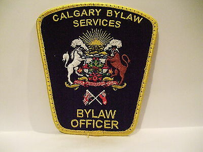 police patch  CALGARY BYLAW SERVICES BYLAW OFFICER ALBERTA  CANADA