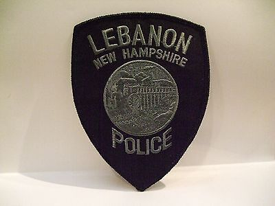 police patch  LEBANON   POLICE NEW HAMPSHIRE  SUBDUED