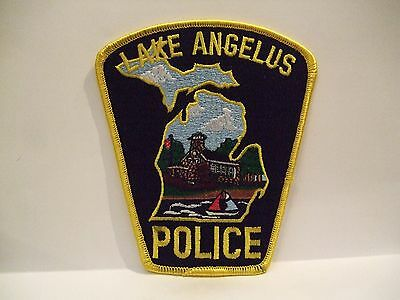 police patch  LAKE ANGELUS POLICE MICHIGAN