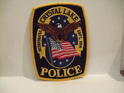 police patch   CRYSTAL LAKE POLICE ILLINOIS