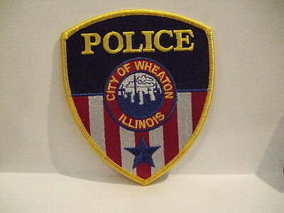 police patch   CITY OF WHEATON POLICE   ILLINOIS
