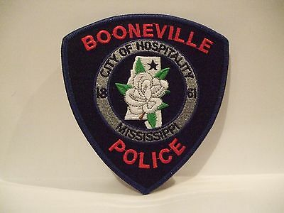 police patch   BOONEVILLE POLICE MISSISSIPPI