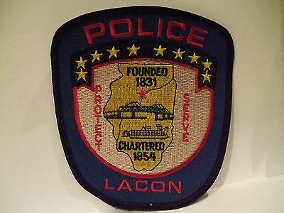 police patch   LACON POLICE ILLINOIS