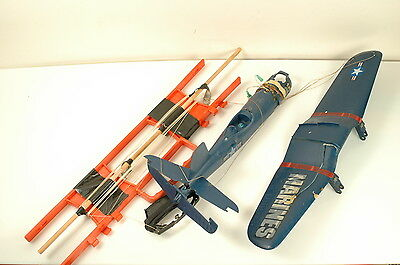 COX Corsair Marines .049 Engine Powered Control Line Airplane for parts repair