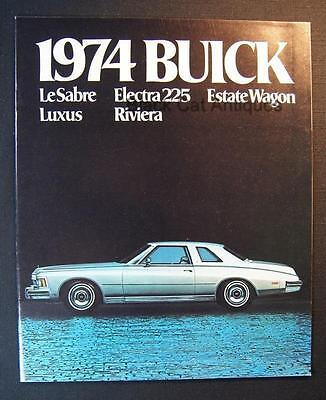 Original 1974 Buick LeSabre Electra 225 Estate Wgn Luxus Riviera Dealer Brochure