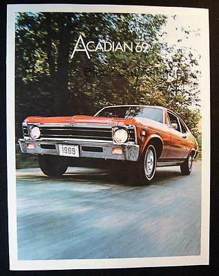 Original 1969 GM Canada Acadian 2-Door Coupe 4-Door Sedan SS350 Car Brochure