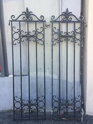 "Old Spanish Revival Iron Window Grids 85x24"" Rod McKuen Estate"