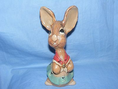 Pendelfin Stoneware Rabbit Old Mother With Thin Neck RARE