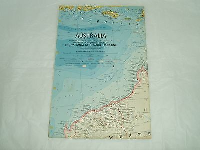 Vintage National Geographic Society Map AUSTRALIA 1963 vintage maps