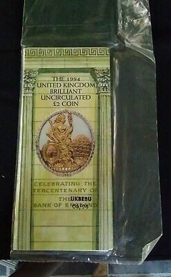 1994 £2 Two Pound Coin Bank Of England Royal Mint Gatefold Pack Sealed B/unc