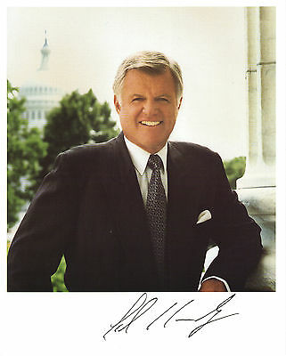 Hand Signed 8x10 photo EDWARD TED KENNEDY - PRESIDENT CANDIDATE + my COA