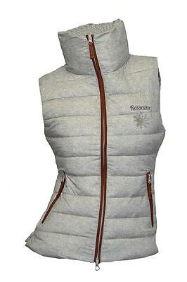ea. St Rossalm Ladies Quilted-Vest Lotte print collar high light gray beige