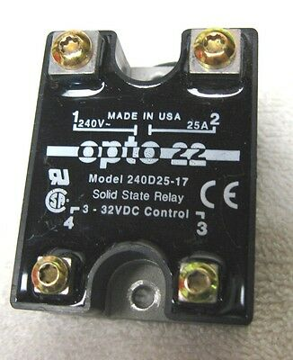 OPTO-22-120-240 VAC, 25 Amp. DC Control Solid State Relay (SSR) 3-32V DC CONTROL