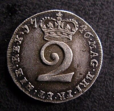 1746 George Ii Maundy Silver Twopence
