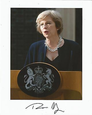 Hand Signed 8x10 THERESA MAY - British PRIME MINISTER - Thatcher - RARE + my COA