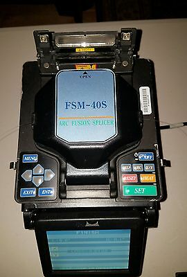 Fujikura FSM-40S Arc Fiber Fusion Splicer SM MM 8465 Splices Count