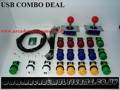USB Arcade Joystick Controller For PC & PS3 (2 Player Version) RED BALL TOPS