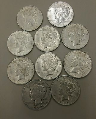 1921-1935 Peace Silver Dollars VG TO UNC MIXED DATE ROLLS OF (20) COINS