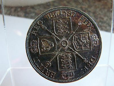 1887 proof double florin, Roman I in date