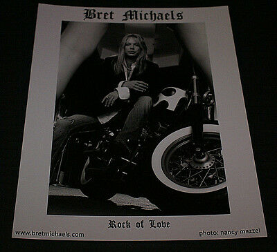 Bret Michaels 8x10 B&W  Official Publicity Promo Picture RARE! HTF ROCK OF LOVE
