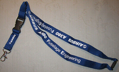 Airbus A380 Fuselage Engineering Schlüsselband Lanyard NEU (A48v)