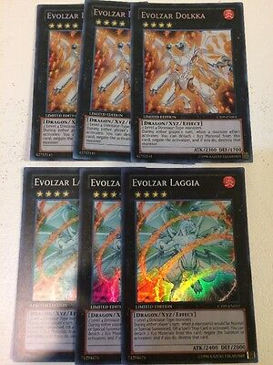 Evolzar Dolkka Secret Rare CT09-EN001 N/M And Laggia 3 Of Each