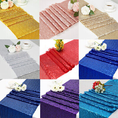 Choose Color Sparkly Sequin Table Runners for Wedding Table,Ready to ship