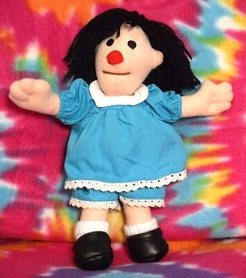 """Big Comfy Couch 9"""" Molly Doll Plush Blue Dress Vintage Rare Commonwealth Novelty"""