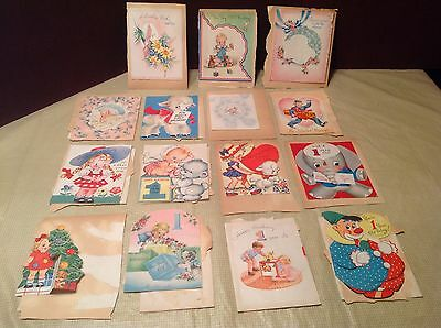 Use Cards -Sent 1945/46 - from scrap book, there are 15 cards per side=30 cards