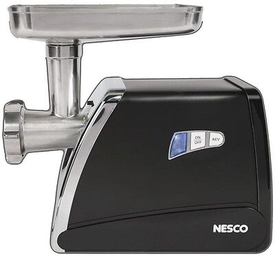 Nesco Food Grinder Electric Stainless Steel Meat Sausage Stuffer Mincer Butcher