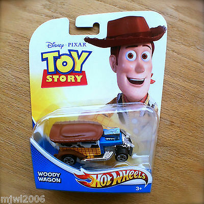 Disney PIXAR Toy Story WOODY WAGON Hot Wheels diecast Mattel sheriff cowboy