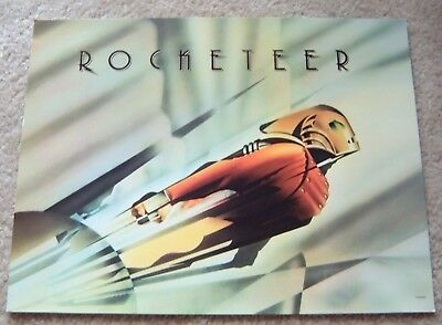 ROCKETEER lobby card - BILL CAMPBELL - 11 x 14 inches