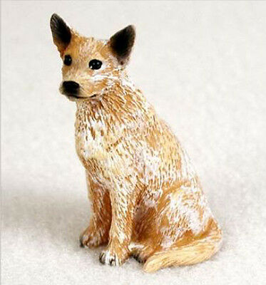 AUSTRALIAN CATTLE DOG TINY ONES DOG Figurine Statue Pet Lovers Resin Gift red