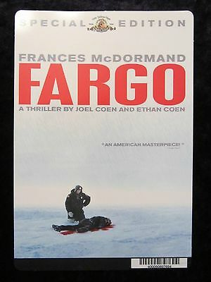 FARGO movie backer card FRANCES McDORMAND (this is NOT a dvd)