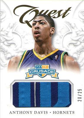 2012-13 12-13 Panini Crusade Quest Rookie RC Prime Patch /25 - Anthony Davis
