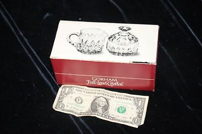 GORHAM FULL-LEAD CRYSTAL CREAM AND COVERED SUGAR BOWL - ALTHEA COLLECTION W/Box