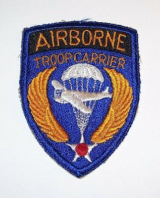 Original Cut-Edge Ww2 Airborne Troop Carrier Patch, Thin Wings Variation