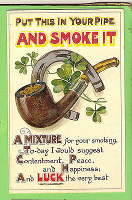 #A. Early  Postcard -  Tobacco Pipe Theme