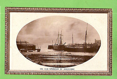Shipping Postcard -  The Old Harbour By Moonlight