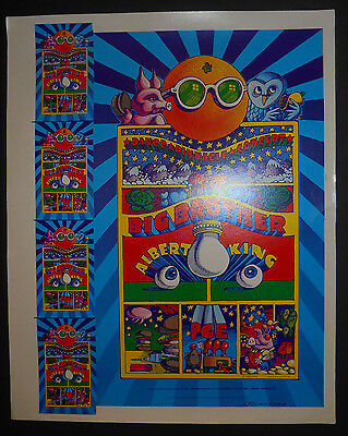 AOR-3.69 Moscoso signed uncut proof poster FD,BG,Grateful Dead