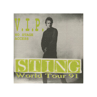 Sting authentic VIP 1991 tour Backstage Pass