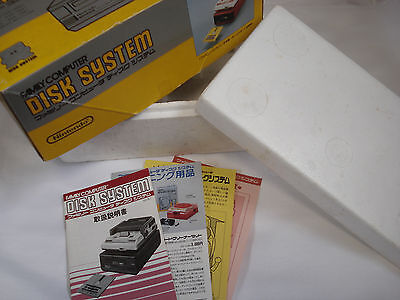 Nintendo Family Computer Disk System Box Only and Inserts Famicom Japan